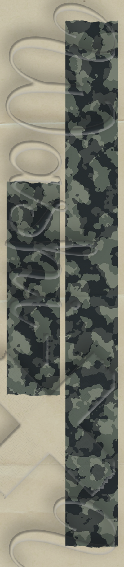 Army patterned washi tape
