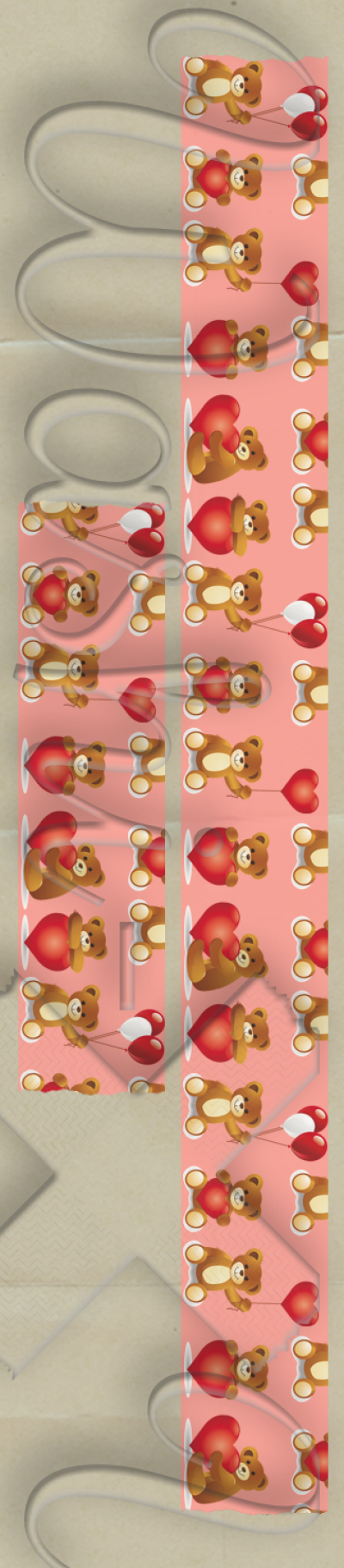 Teddy bear patterned washi tape