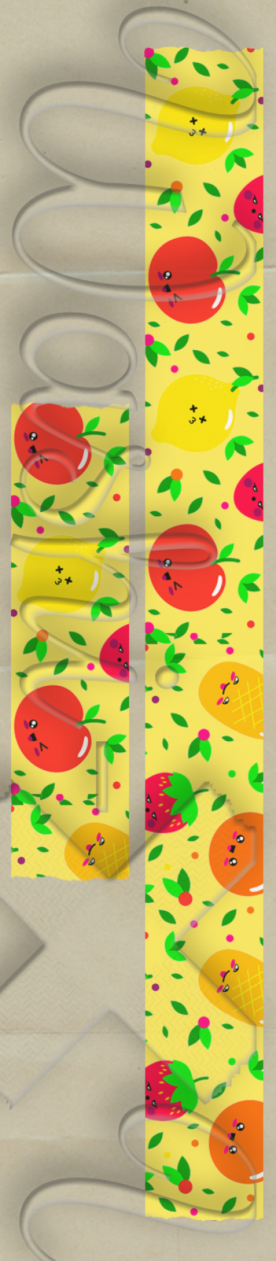 Fruits patterned washi tape