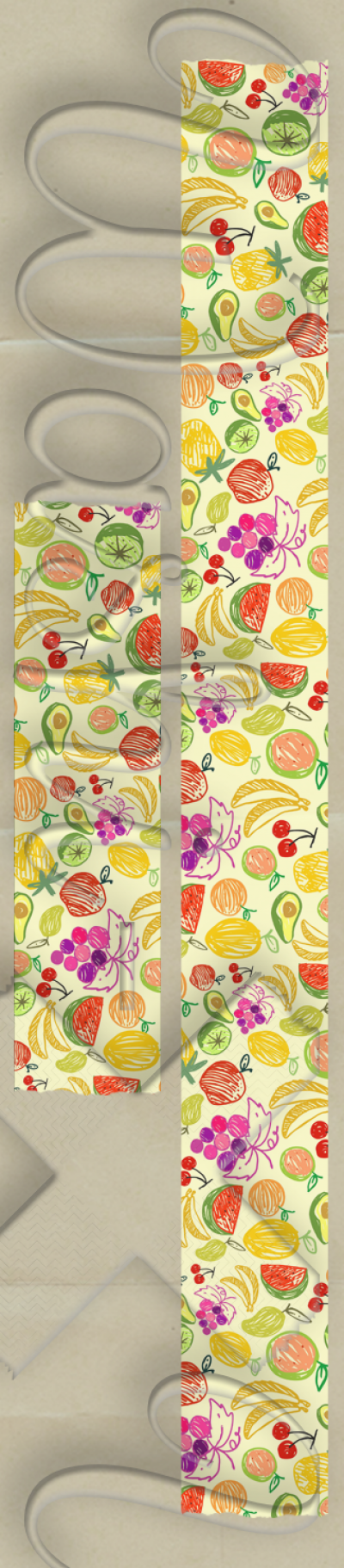 Painted fruits patterned washi tape