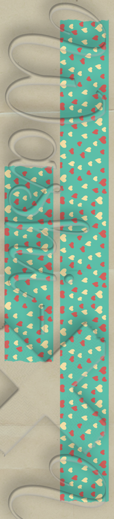 Red-white hearts patterned washi tape