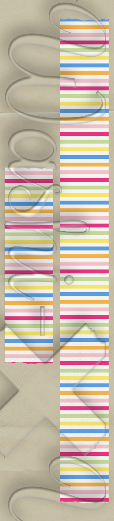 Washi-X Washi Tape Lines patterned washi tape style 1