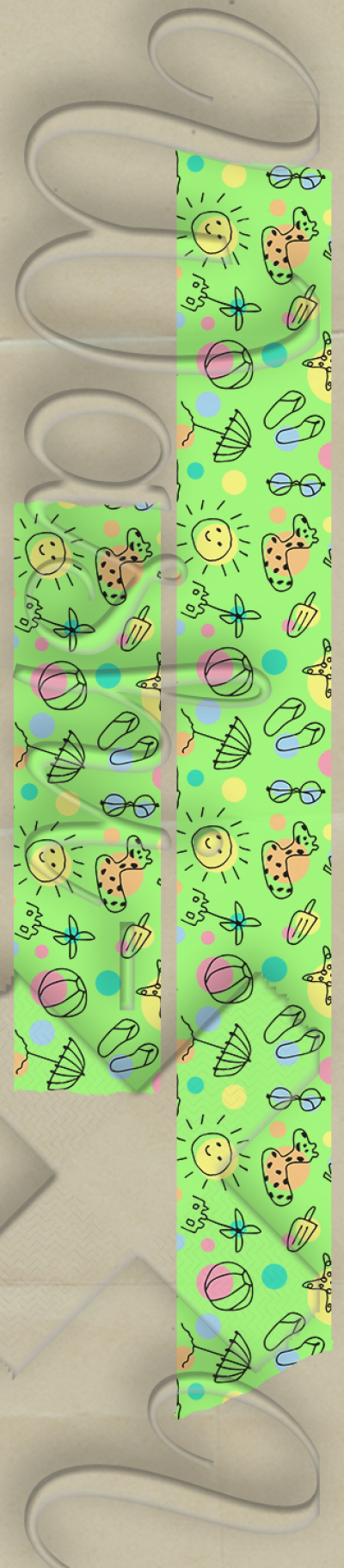 Summer patterned washi tape style 1