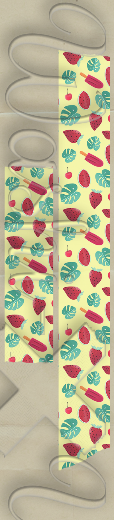 Summer patterned washi tape style 2