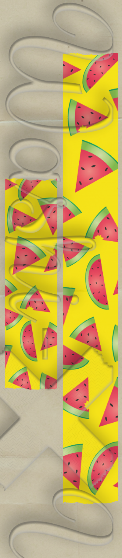 Watermelon patterned washi tape style 1
